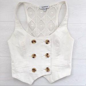 White Lace Vest